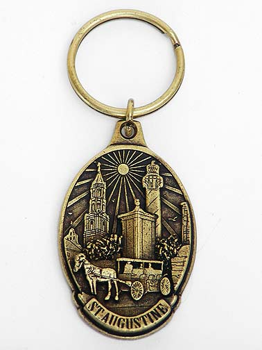 Brass St. Augustine Souvenir Key Ring